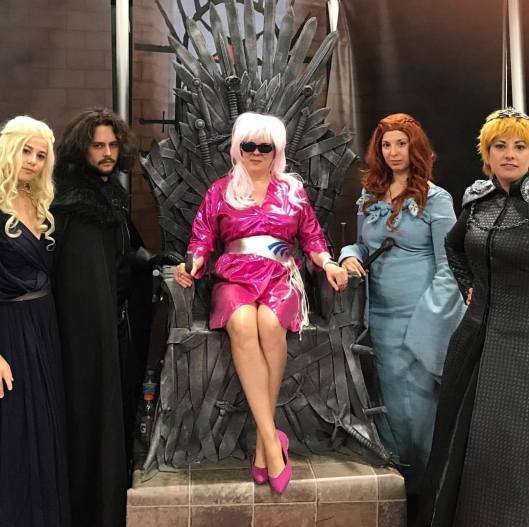 Cait-Jem on the Iron Throne