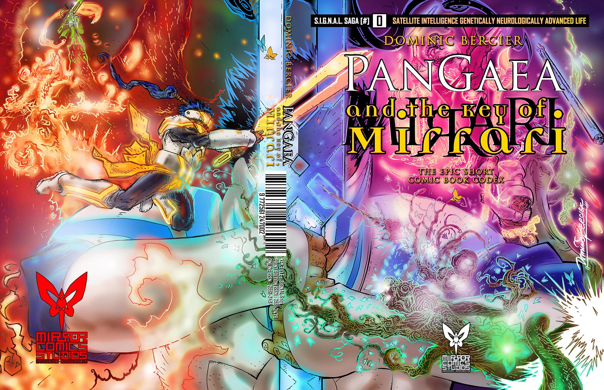 Comic book cover of SIGNAL Saga #0 - PanGaea and the Key of Mirrari by Dominic Bercier [2017]
