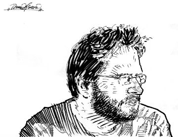 ID: Sketch of Dominic Bercier, done by the artist himself!