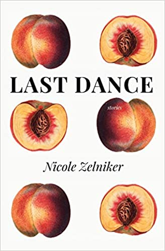 Book cover: A white background features three rows of two peaches each, and one of each pair is cut in half, revealing the pit.